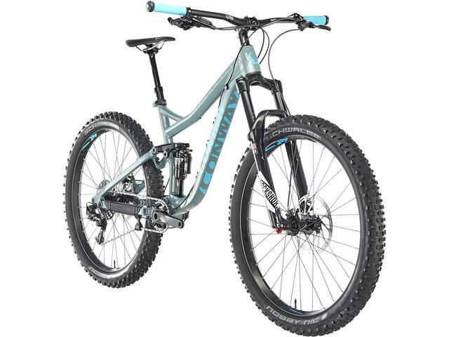 Conway WME 727 Plus Alu MTB Fullsuspension grå/blå | Mountainbikes